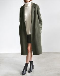 Khaki Coat | Neutral Layers | Polished | Minimal | TheUNDONE #beundone