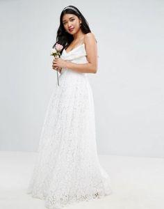 444ee82be074  238.00 ASOS BRIDAL Lace Bow Front Maxi Prom Dress Wedding Bridesmaid  Dresses