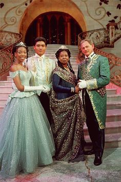queerfabulousmermaid: Cinderella - Brandy (Cinderella), Paolo Montalban (Prince Christopher), Whoopi Goldberg (Queen Constantina), and Victor Garber (King Maximillian) the only version of cinderella that matters. Best Cinderella ever Movies Showing, Movies And Tv Shows, Rodgers And Hammerstein's Cinderella, Victor Garber, Whoopi Goldberg, Interracial Couples, Biracial Couples, Disney Movies, Disney Stuff