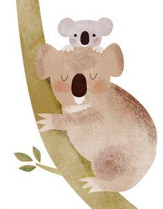 Cute koala illustration by Dermot Flynn for Mothercare http://www.dutchuncle.co.uk/dermot-flynn-images