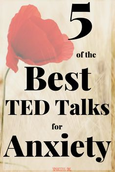 5 Best TED Talks for Anxiety (Inspirational) - Success 5 Best TED Talks for Anxiety<br> These are 5 of the best TED Talks for anxiety, each featuring someone with a fascinating, inspirational story to tell and a unique perspective on anxiety. Anxiety Tips, Anxiety Help, Social Anxiety, Stress And Anxiety, Anxiety Therapy, Health Anxiety, Cope With Anxiety, Anxiety And Depression, How To Handle Anxiety