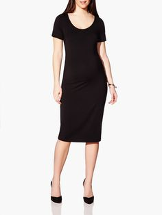 1219ccc0398 Stork   Babe (Spring 2015) - Long Sleeve Basic Maternity Dress Available at  Thyme