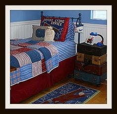 airplane theme bedding picture