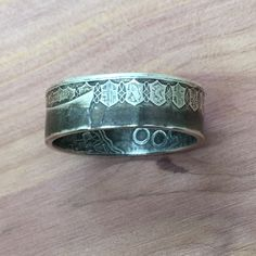 Italian 500 Lire silver coin ring forged by Coin Works USA.