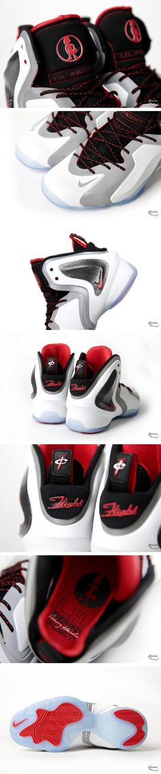 Nike Lil Penny Posite Reflective Silver & Red (Preview)