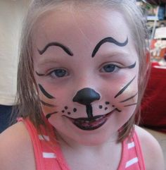 Find easy yet effective cat face painting ideas.