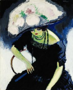 dappledwithshadow: Woman with a Hat of Roses, Kees van Dongen, s.d.