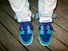 Nike. High Top. Custom: SHOES N / BOOZE.
