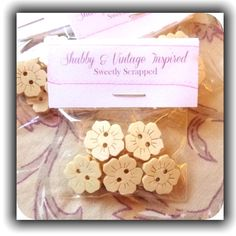 8 Wood Flower Buttons DIY Sewing by SweetlyScrappedArt on Etsy, $1.00