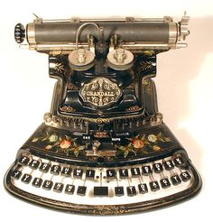 Crandall New Model typewriter, 1886.