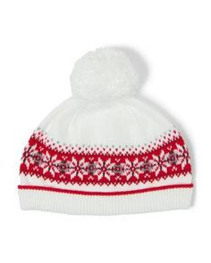 Accessories White Fair Isle Fair Isle Beanie by Janie and Jack. Just add  our soft Fair Isle beanie for extra warmth. 89b2a6371321