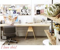 perfect workspace from http://bodieandfou.blogspot.com (can smith and bailey please recreate this office space one day?!)