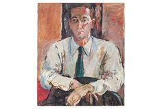 Vintage Oil Portrait, Man on OneKingsLane.com