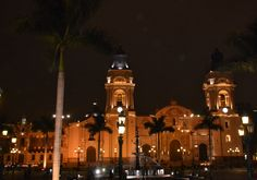 Night view of Cathedral in Lima, Peru