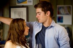 Amanda Crew and Zac Efron
