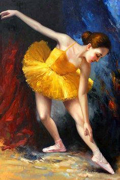 The Ballet Girl,oil paintings on canvas,The Ballet Girl, oil paintings on canvas -