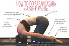 How to do Rabbit Pose — YOGABYCANDACE Pin now, practice later! Rabbit pose is great for upper back pain! Wearing: Lululemon wunder under (herringbone sold out, but available in crop), Alo bra. Using: Prana travel mat. Yoga Fitness, Reto Fitness, Mat Yoga, Bikram Yoga, Kundalini Yoga, Upper Back Pain, Yoga For Back Pain, Upper Back Stretches, Asana