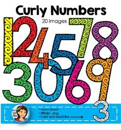Numbers Clip Art*Please download the preview to see the full set in high resolution*Here are some colorful doodle numbers to brighten your classroom products.Contents:0 - 9 in different colors0 - 9 in black with white fillAll images are in png (transparent background) and are high resolution 300dpi.