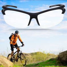 1 pc Sport Outdoor Riding Cycling UV400 Protection Sunglasses Transparent free shipping