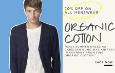 Organic cotton cardigan for men NUNO in colour navy blue from MURIEE.com