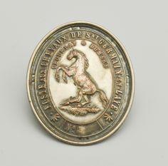 Ecusson de postillon 1852 l 39 adresse mus e de la poste la poste dr ecussons et m dailles - La poste st germain en laye ...