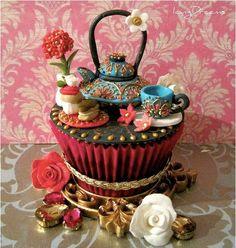 Tea+Set+Cupcake.jpg (556×586)