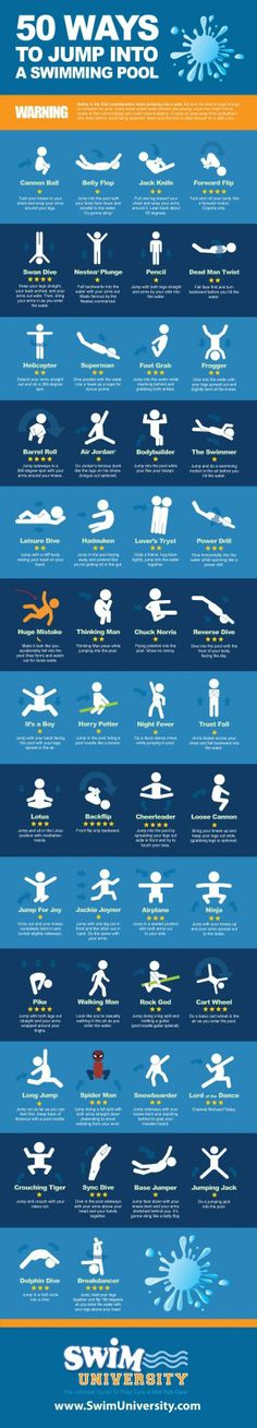 is it bad that all i can think of is how dangerous most of these are not to mention painful! …. too much time teaching the correct way into the pool i think