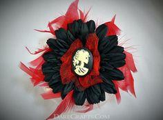 Shirley Hair Flower #DEHF43 #hairaccessories #hairflowerclip #steampunkaccessories #hairflower