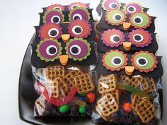 Cute Owl Halloween Treat bags