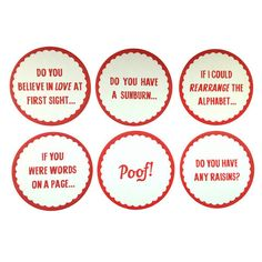 Cheesy Pick Up Lines Coasters - sooo cute!