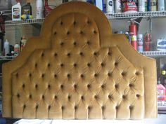 ****This listing is for a Custom Golden Morning Sun Tufted Headboard with your fabric****  This luxurious headboard recently sold however, we can