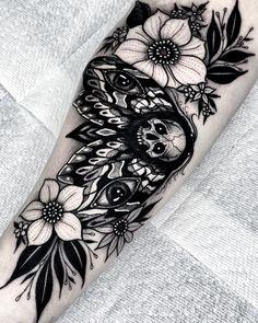 "Angelo Parente on Instagram: ""Death Moth 💀👁 . . . #blackwork #inkedmag #dotworker #deathmoth #mothtattoo #dotworktattoo #tattoosnob #btattooing #tttpublishing…"""