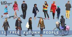V I S h o p p e r  give away  free high-res 2d cut out people – 12 free autumn people