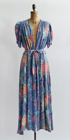 vintage 1940s dress | The English Garden Dress from Adored Vintage