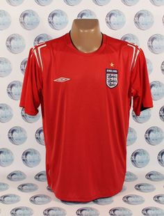 52a675a68c0 ENGLAND NATIONAL TEAM 2004 2006 FOOTBALL SOCCER SHIRT JERSEY TRIKOT XL