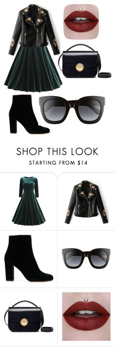 """""""Hard and beauty"""" by dahn-pahn on Polyvore featuring мода, WithChic, Gucci и Marni"""