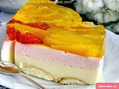 lekki jogurtowiec brzoskwiniowo - truskawkowy