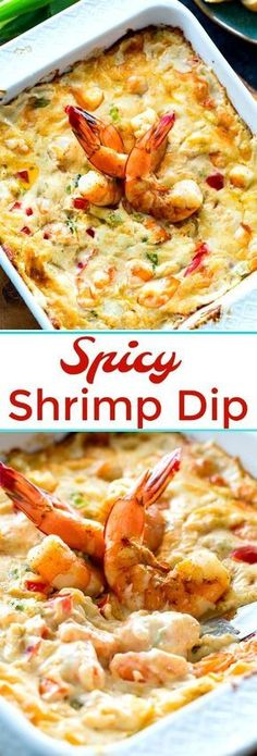 Creamy and cheesy Spicy Shrimp Dip #dips #shrimp #appetizers #spicy