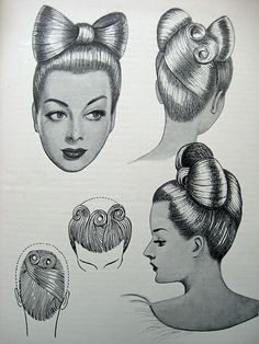 Vintage Hair - The Art & Craft of Hairdressing 1950 | Flickr - Photo Sharing!