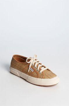 raffia sneakers.