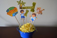 A personal favorite from my Etsy shop https://www.etsy.com/listing/248829705/go-diego-go-custom-center-piece