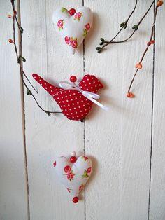 Girlande Vogel Herzen Deko Tilda-Landhaus-Shabby-Geschenk-Geburtstag-Frühling in Möbel & Wohnen, Dekoration, Sonstige | eBay