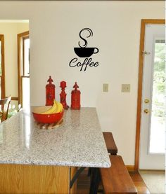 Coffee Decor  Wall Decal  Coffee Decals Coffee by iheartdecals, $11.99