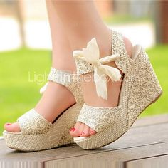 Cloth Women's Wedge Heel Open Toe Sandals Shoes(More Colors) 2016 - $19.99