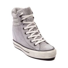 Shop for Converse Chuck Taylor Wedge Sneaker in Stone at Journeys Shoes. Shop today for the hottest brands in mens shoes and womens shoes at Journeys.com.The new Wedge Sneaker from Chuck Taylor is reaching new heights! This season, elevate your look with the Wedge Sneaker featuring soft suede uppers, lace up closure, padded tongue and collar, concealed 2.5 wedge heel with 1 platform, and durable rubber outsole. Available only online at Journeys.com and SHIbyJourneys.com! Available for ...