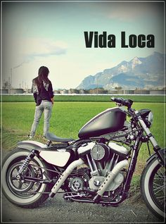 Sportster Harley Bobber Red Line Designed by Vida Loca Choppers in 2011 Harley Bobber, Kustom, Choppers, Line Design, The Good Place, Red, Chopper, Motorcycles, Helicopters
