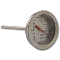 50mm diameter dial roasting meat thermometer/cooking thermometer with red pointer and 100mm probe.