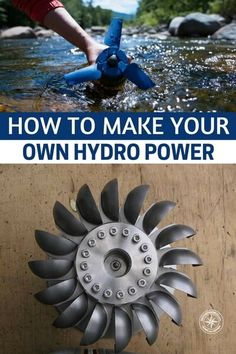 How To Make Your Own Hydro Power - Obviously this isn't a real secure way of generating enough power to run a whole house but if certainly could help and is a very efficient method of harnessing power. Off Grid Survival, Survival Skills, Survival Shelter, Survival Tips, Homestead Survival, Urban Survival, Water Wheel Generator, Windmill Generator, Alternative Energie