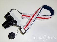 I'm Topsy Turvy: Ruffled camera strap