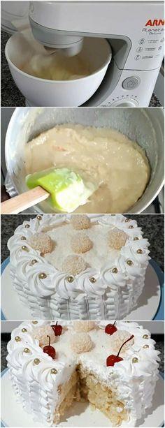 BOLO COCADA CREMOSA COM ABACAXI…SIMPLESMENTE MARAVILHOSO!! VEJA AQUI>>>massa: ( xícara padrão 240ml) 3 ovos 1 xicara de açúcar (150g) 125 ml agua quente 1 xicara e 2 colheres sopa de farinha de trigo #receita#bolo#torta#doce#sobremesa#aniversario#pudim#mousse#pave#Cheesecake#chocolate#confeitaria